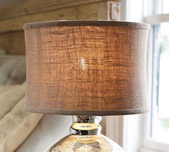 Attractive Burlap Flared Drum Lamp Shade #potterybarn
