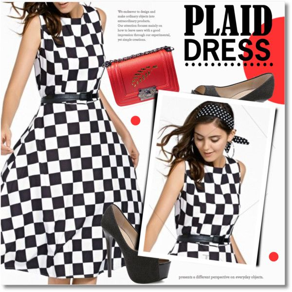 Plaid dress Outfit Idea 2017