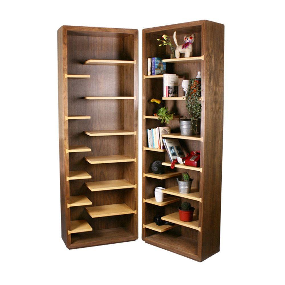 Sahara librero de mdf y chapa de madera nogal arce - Muebles para libros modernos ...
