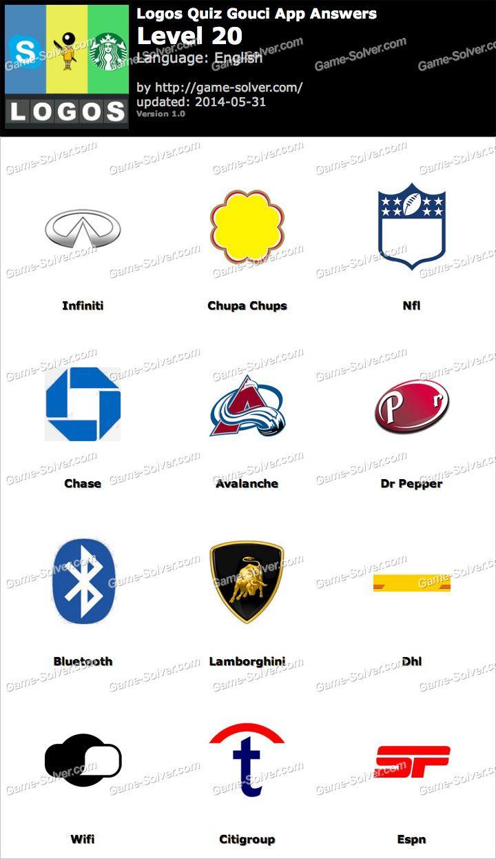 Logos Quiz Gouci App Level 20 Logo Quiz Logo Quiz Answers Quiz