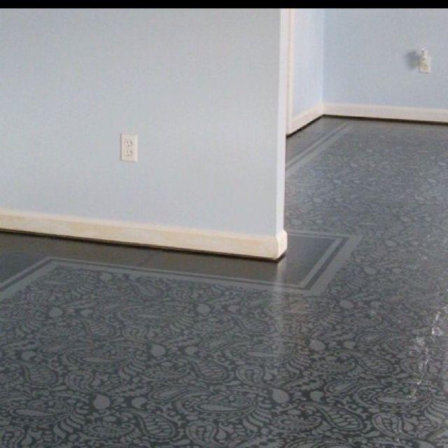 Painted Subfloor Look How Nice This Looks Painted Floor By Frau - Bathroom subfloor options