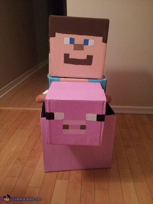 Minecraft Steve - Halloween Costume Contest via @costume_works