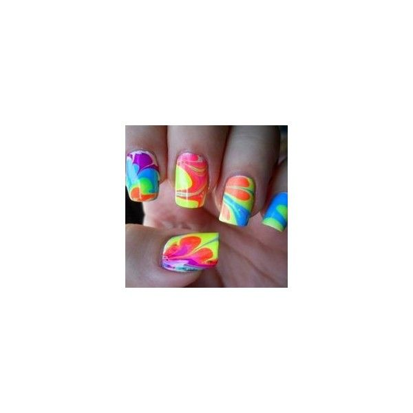 10 Cute And Creative Swirl Nail Art ❤ liked on Polyvore featuring beauty products, nail care, nail treatments, nails and lullabies