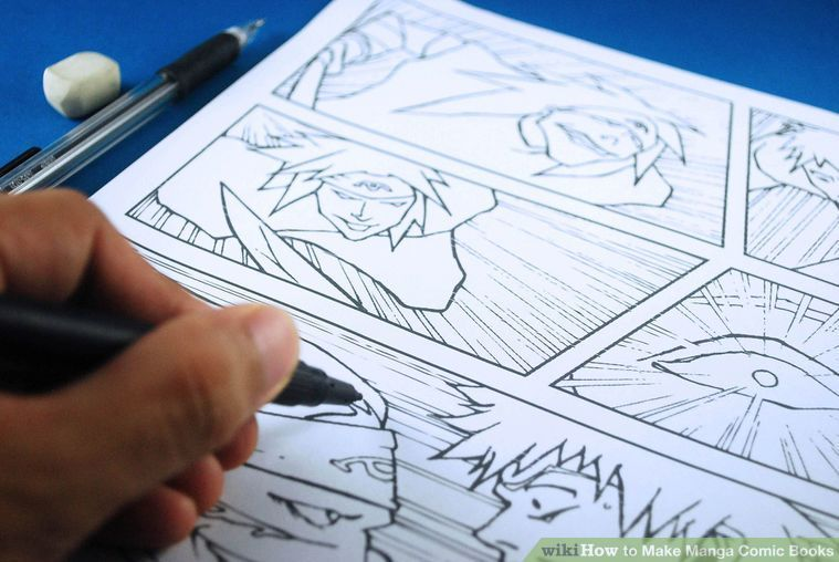 How To Make Manga Comic Books 4 Steps With Pictures Comic Books Diy Comic Tutorial Comic Books