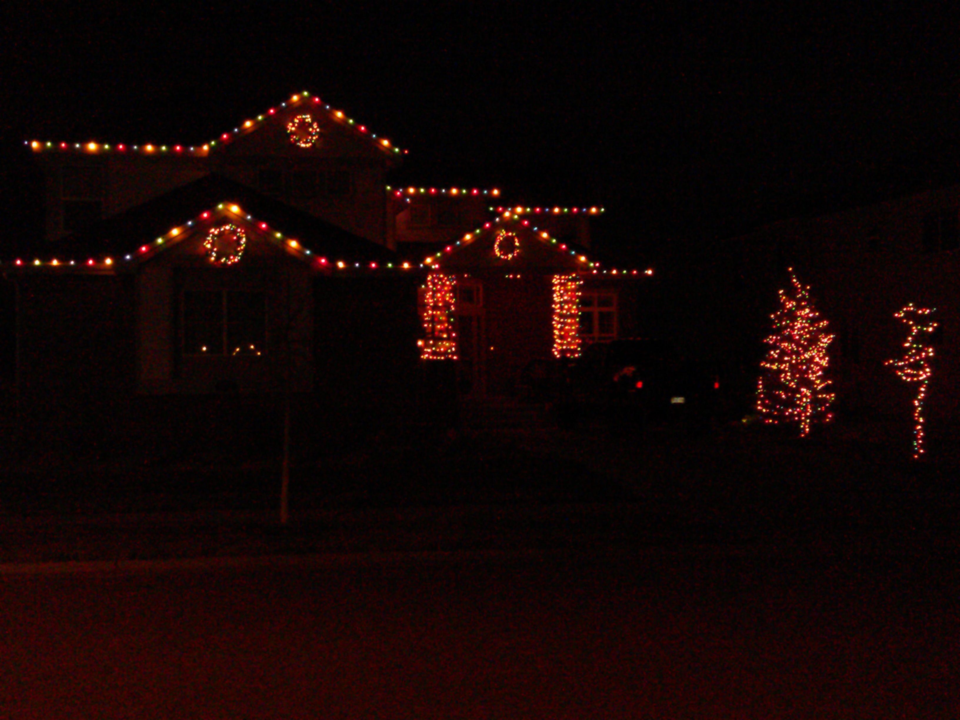 Saddlerock, CO Residence, Multi-color lights on house, 3 ...