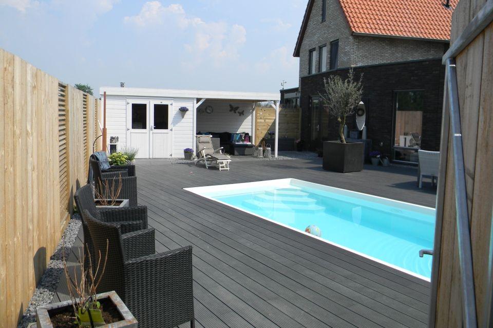 Zwembad swimming pool zwembaden zwemmen tuin for Zwembad achtertuin