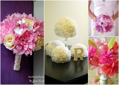 How To Make Paper Flowers From Tissue For Weddings And Pipe