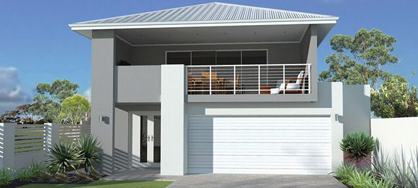 Narrow lot house plans narrow block house design for Narrow lot home builders perth