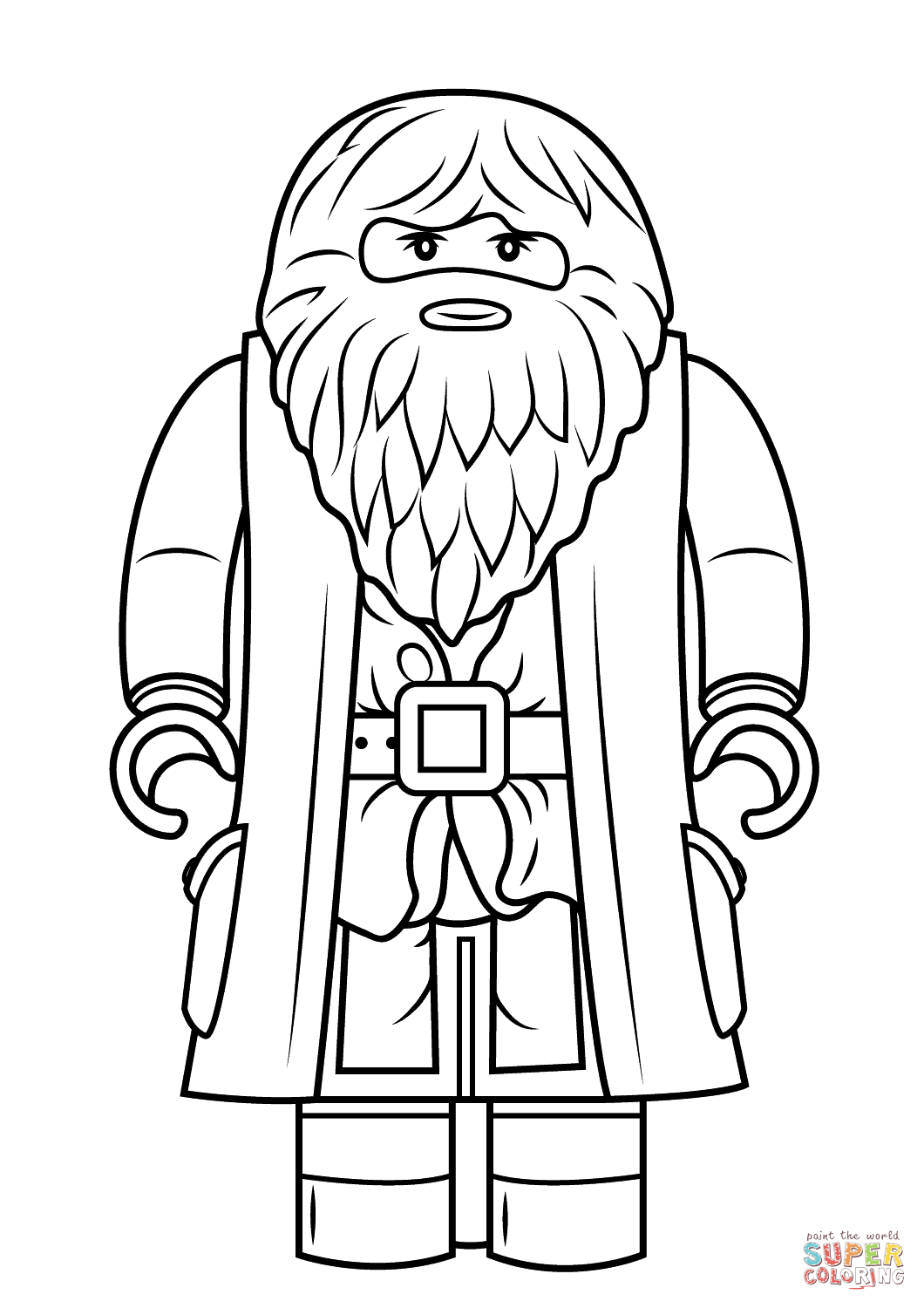 Lego Rubeus Hagrid Minifigure Super Coloring Activities Keeping