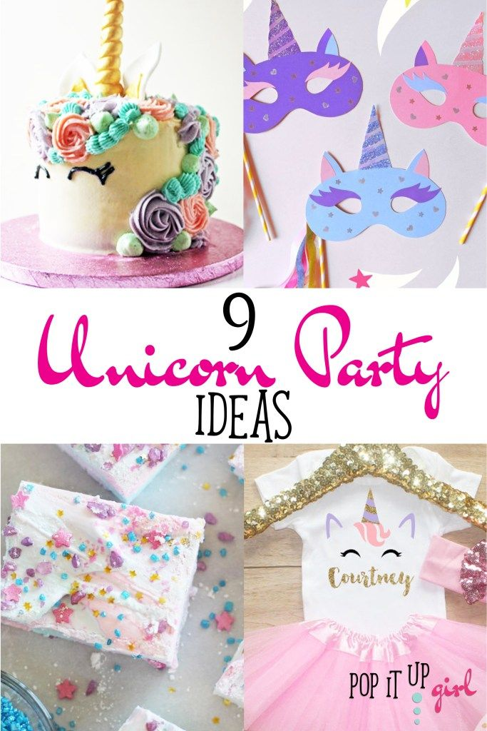Popping Ideas  9 Unicorn Party Ideas - Unicorn party, Girl birthday party food, Baby girl party ideas, Girls birthday party decorations, Girls birthday party games, Girl birthday party tween - Unicorns are SO in right now and I think it's terrific! I'm a child of the 80's and I thoroughly remember watching My Little Pony and the unicorns were always my fave! They're so majestic and magical, it's no wonder they are every little girls dream party idea right now  Here are some magical unicorn     Read More about Popping Ideas   9 Unicorn Party Ideas!