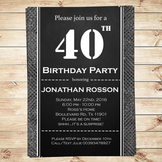 Mens surprise birthday party invitations Instant Download DIY