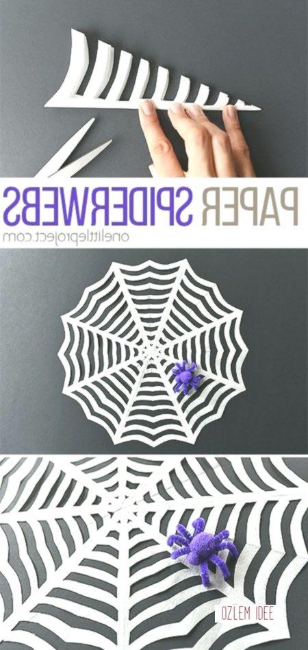 Wie, um Papier zu Machen Spiderwebs | Papier Spiderweb Handwerk #spinnennetzbasteln