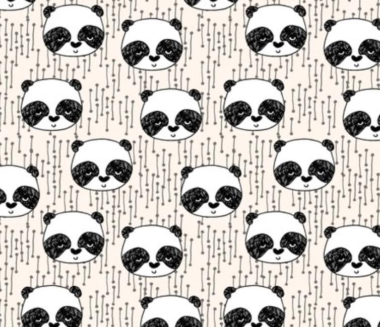 Organic Cotton Knit Leggings - Pandas - Andrea Lauren Design