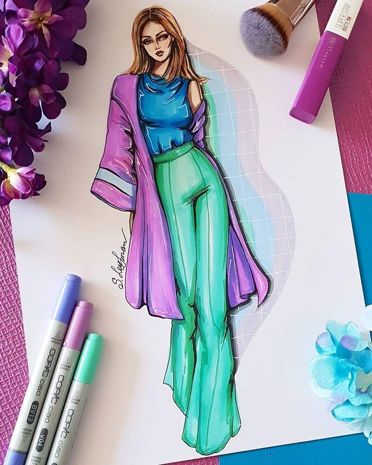 Instagram Da Sveta Slobodov Leyfman Sorbet Colors Do You Like Them Fashio Fashion Illustration Illustration Fashion Design Fashion Design Sketches