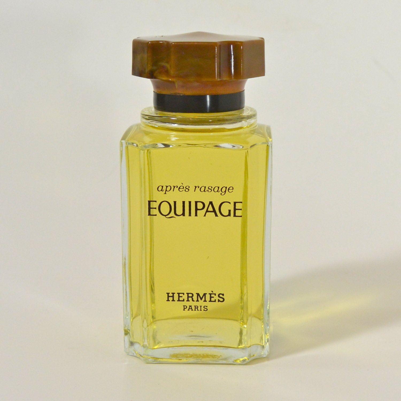 Vtg 70s Hermes Paris Equipage Perfume Bottle Apres Rasage Factice
