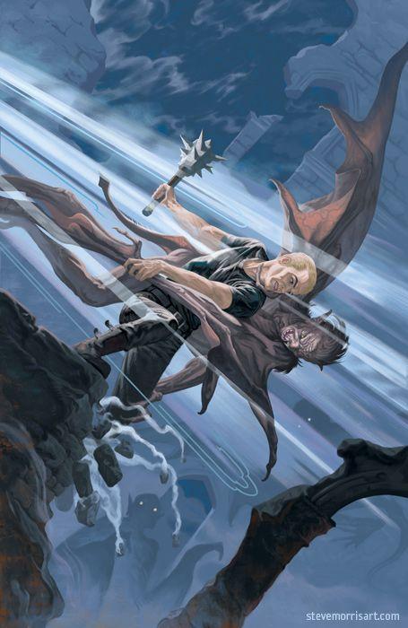 Buffy the Vampire Slayer cover, issue 5 season 10 by StevenJamesMorris on deviantART