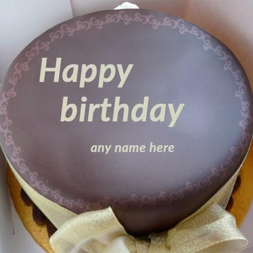 Birthday Wishes Cake With Name Edit
