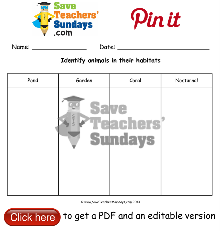 100+ [ Animals And Their Habitat Worksheets For Kindergarten ...