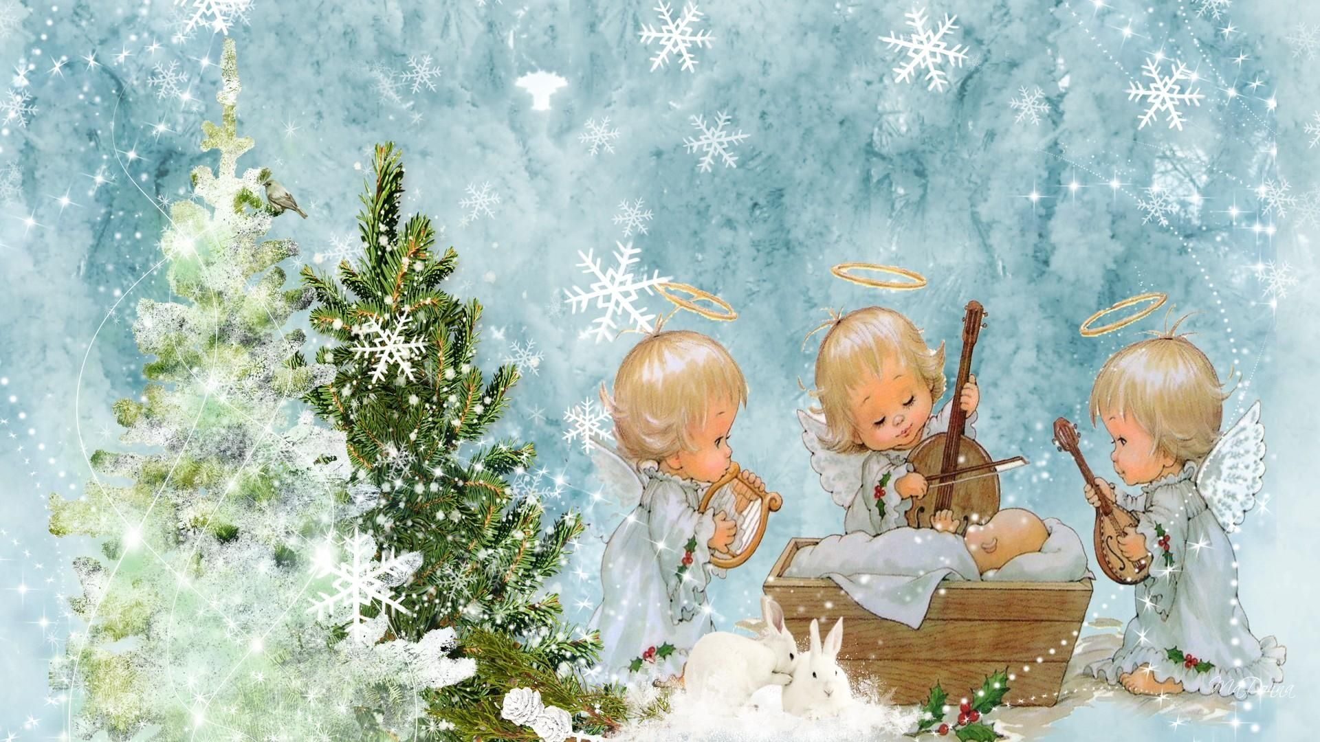 Image Gallery For Angel Baby Christmas Wallpaper