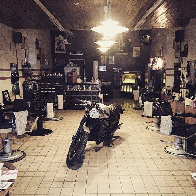 rocketgarage cafe racer: rocket barbershop | cafe racer e