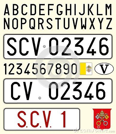 Vatican City Car License Plate Letters Numbers And Symbols Poe