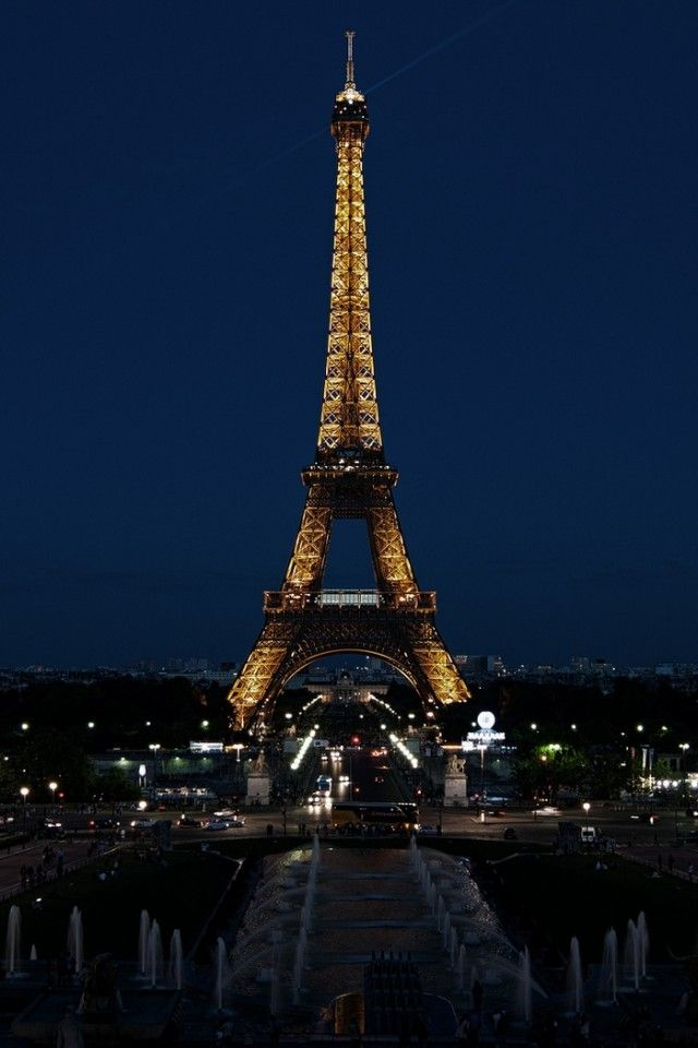 Paris France Eiffel Tower City Night Lights Wallpaper Apple Wallpapeprscraft Oteller