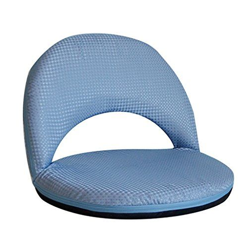 Chaise Lounges Lazy Couch Folding Tatami Sofa Cushion Chair Bed Stylish Backrest Single Small Cute Casual Stool Color Blue