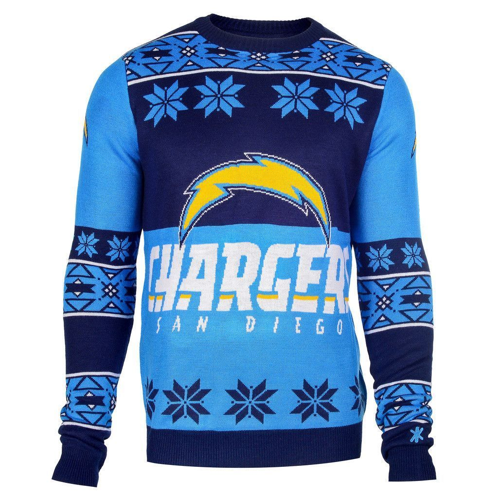 brand new 713e9 cbabd San Diego Chargers Official Men's NFL Big Logo Sweater   Los ...