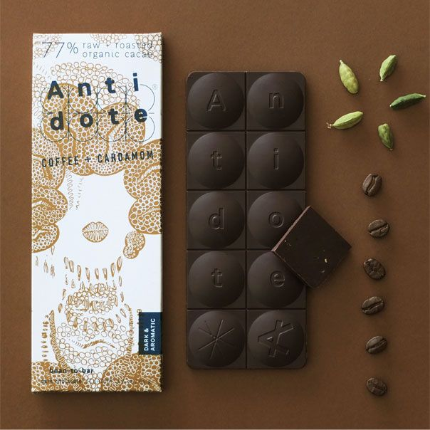 Antidote Chocolates: Coffee & Cardamom. Chocolate that's good for you.