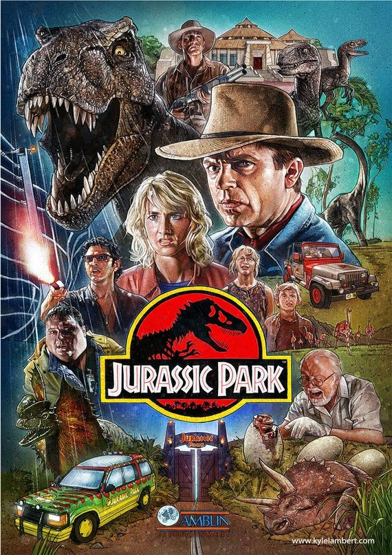 Photo of Jurassic Park  Movie Classic Art Wall Poster Game Glossy Paper 200 gsm Size A1 A2 A3 A4 Art Decor Ho