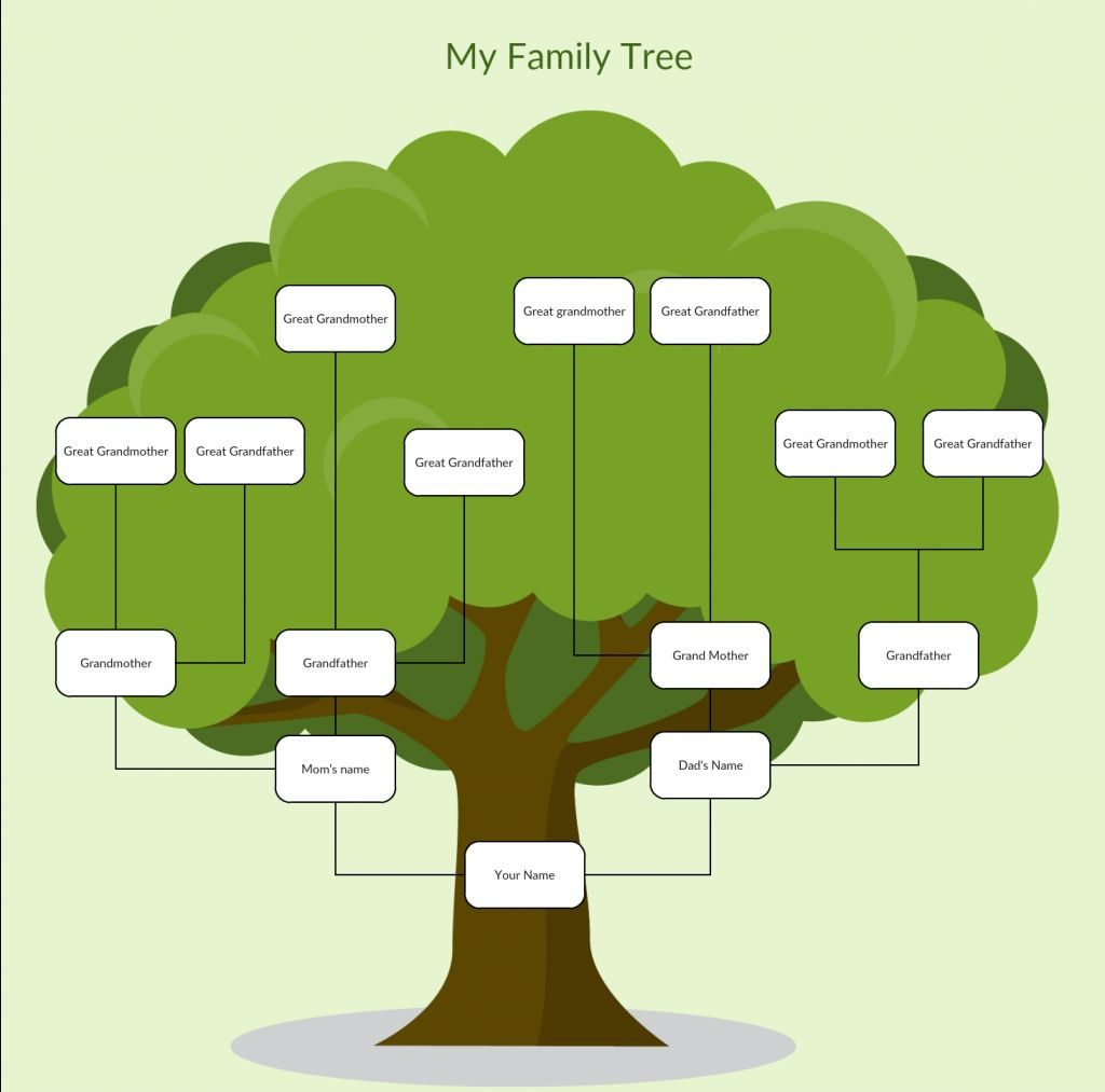 Family Tree Templates To Create Family Tree Charts Online