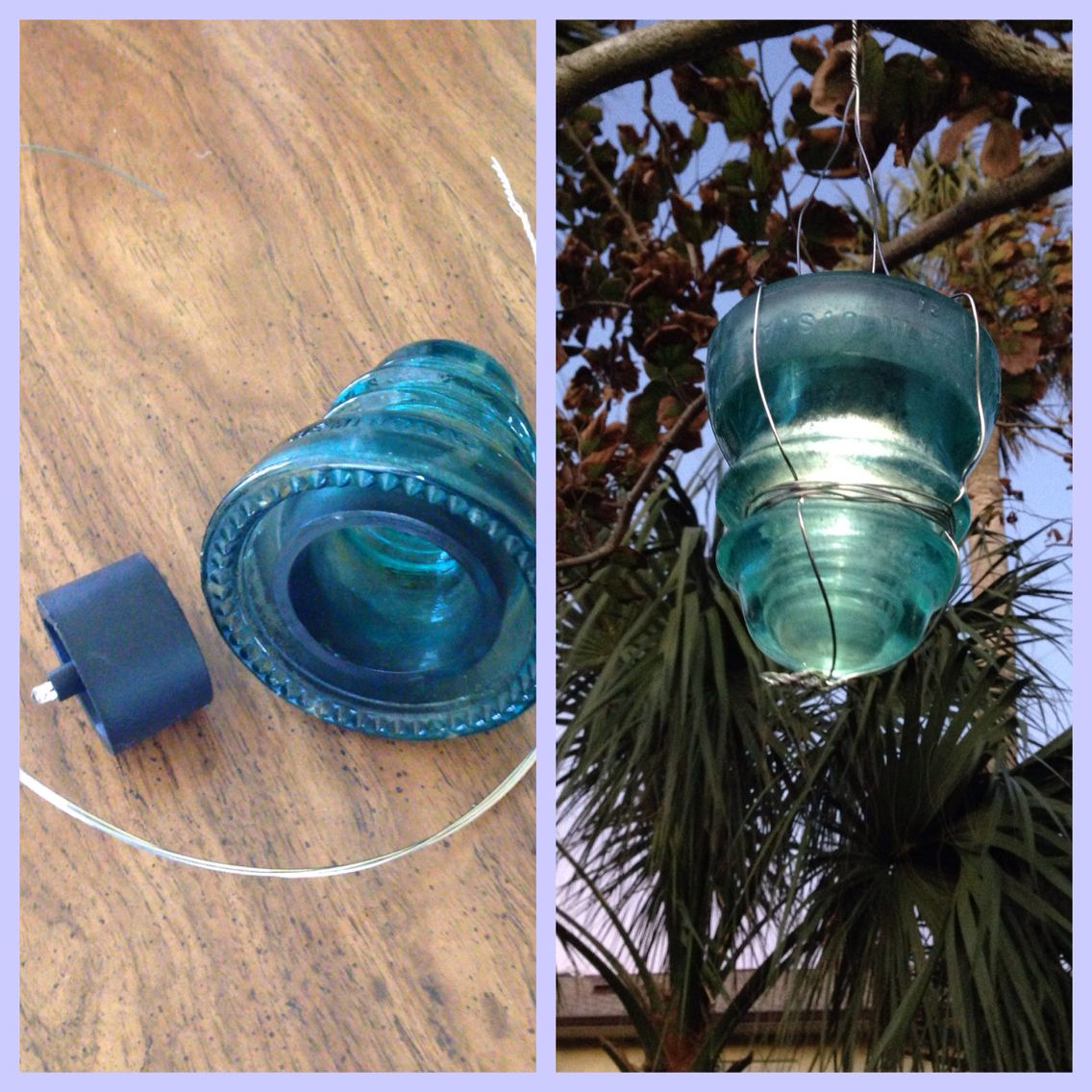 Wire, insulator and $1 solar light from Walmart makes this great ...