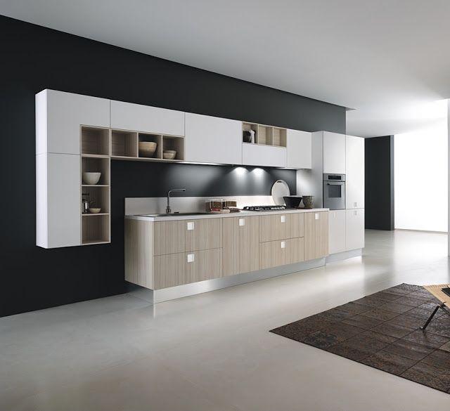 Cocinas lineales la combinaci n de colores cucines for Cocina 3 metros lineales