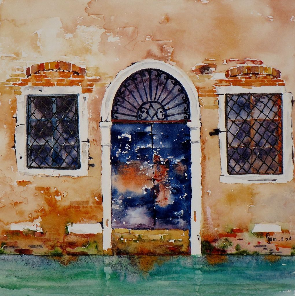 Defiaqua N 14 Les Portes 11 Painting Watercolor Art
