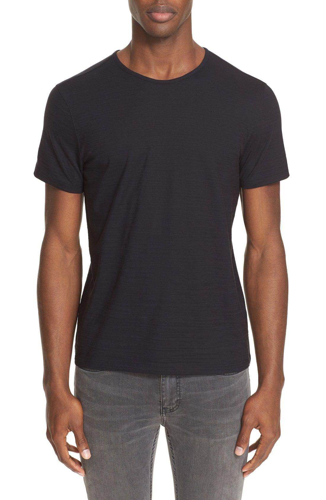 John Varvatos Slub Pima Cotton T Shirt Johnvarvatos Cloth John