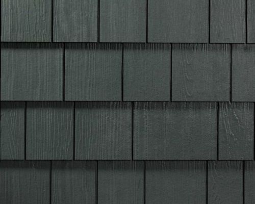 Hardieshingle Straight Edge Iron Gray James Hardie Fiber