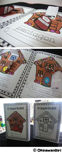 3 differentiated versions. Features 10 common 2D shapes.  Suitable for preschool and kindergarten. Color and black and white. $