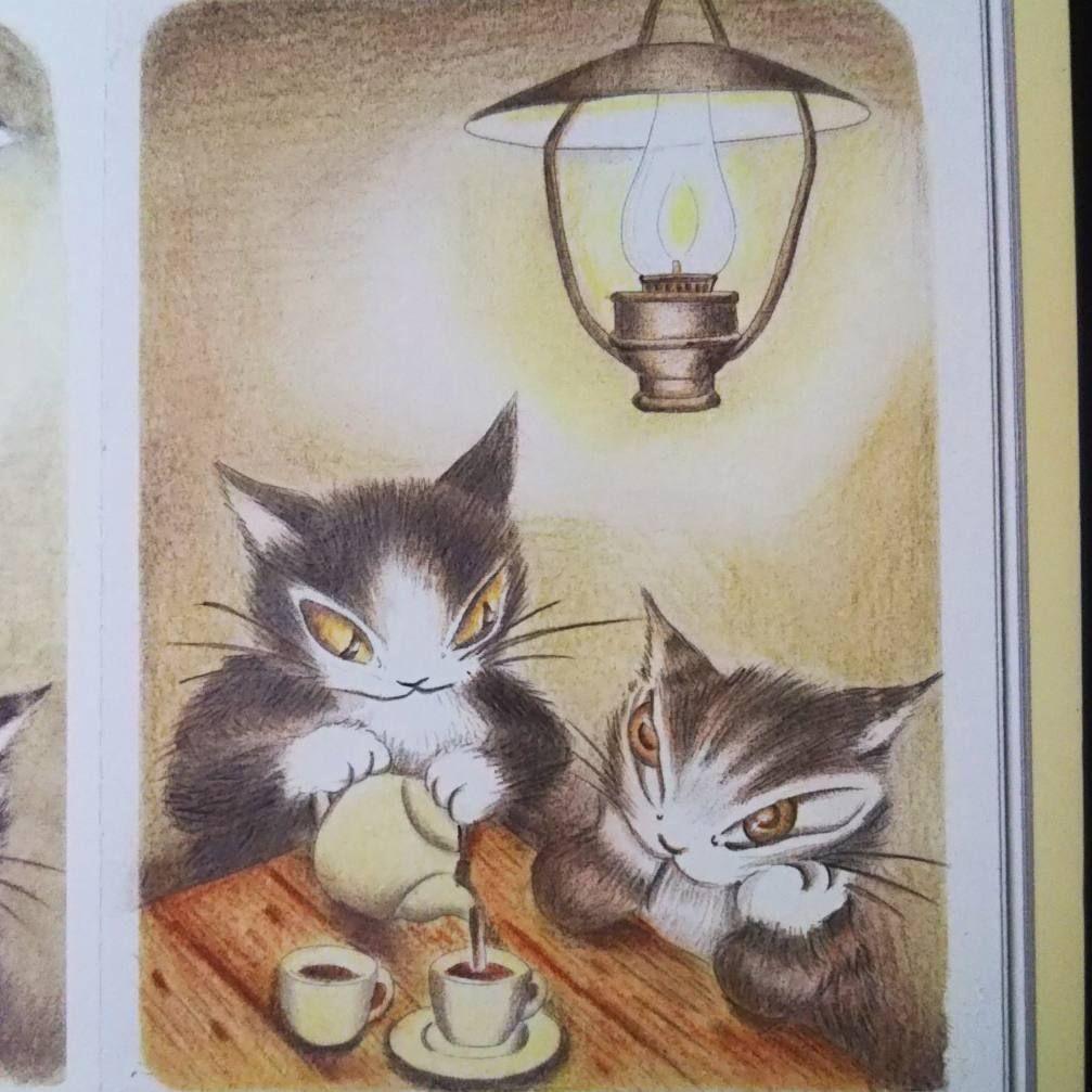 猫のダヤンと仲間たち よりもう1つ 油性色鉛筆とパステル色鉛筆です