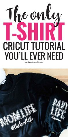 How to make T-Shirts with your Cricut Using Iron On #cricutcrafts