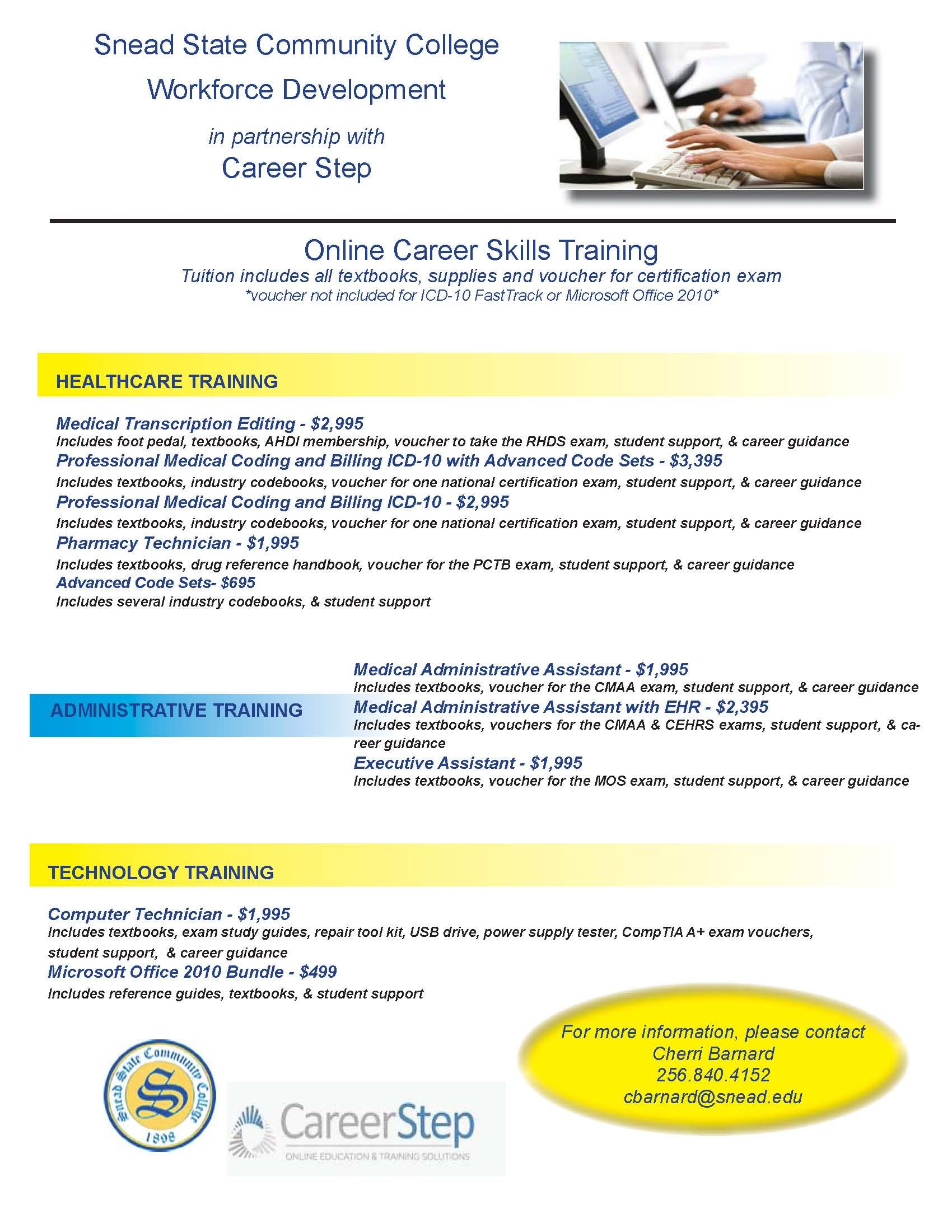 Pin By Snead State Workforce Developm On Career Skills Training Healthcare Training Medical Transcription Skill Training