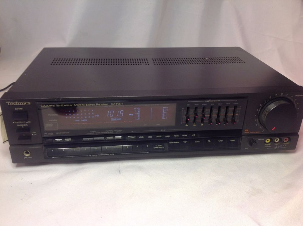 Technics SA-R277 2 Channel Stereo Receiver AM/FM 60 Watt EQ