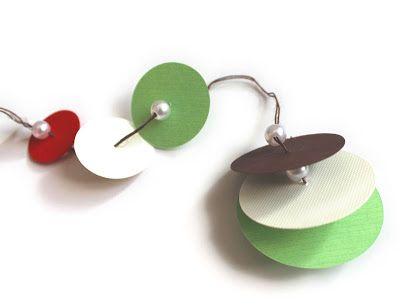 おとなのずがこうさく: 簡単クリスマス工作☃『小さなツリーカード』