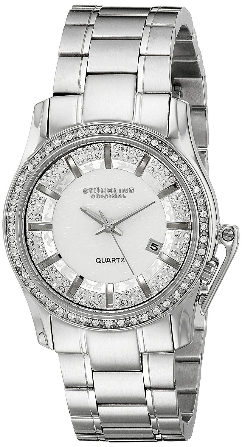 d34bd8b91444 Stuhrling Original Women s 910.01 Symphony Calliope Analog Display Quartz  Silver Watch -- You can find out more details at the link of the image.