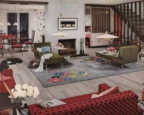 12s Decor  Mid century modern interiors, Retro home decor
