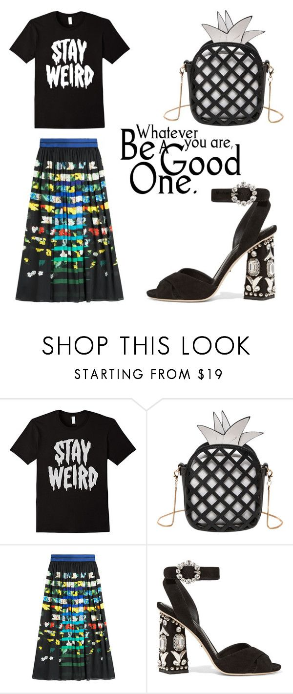 """""""Stay Weird"""" by aqualyra ❤ liked on Polyvore featuring Mary Katrantzou, Dolce&Gabbana and Eclectic"""