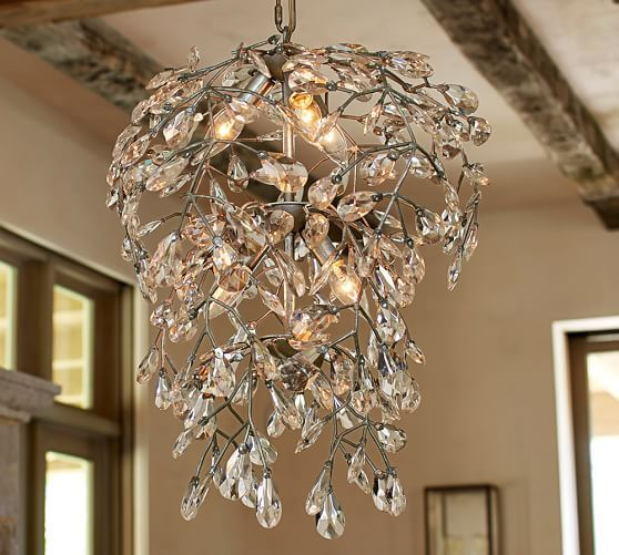 Pottery Barn Bellora Chandelier Reviews: 2nd Floor Office (aka BR3) Bella Crystal Round Chandelier