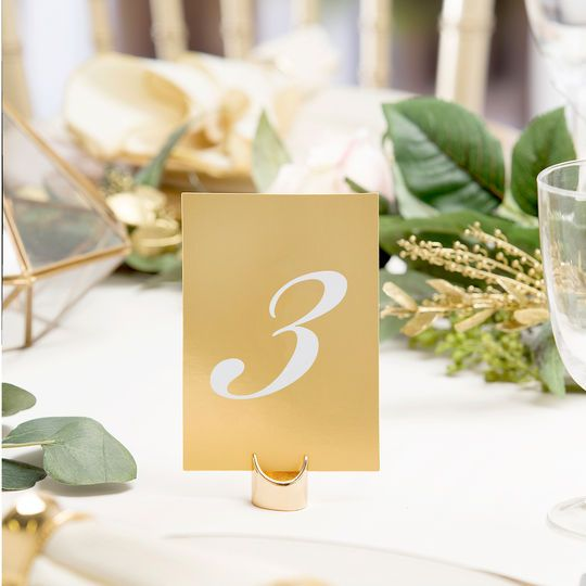Purchase The David Tutera Vertical Table Numbers Gold At Michaels Number Your Reception Tables With These Beautiful From