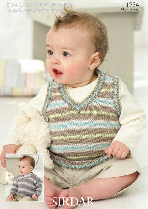 Sirdar--Sweater and Slipover (0 - 6 years) | Baby knitting ...