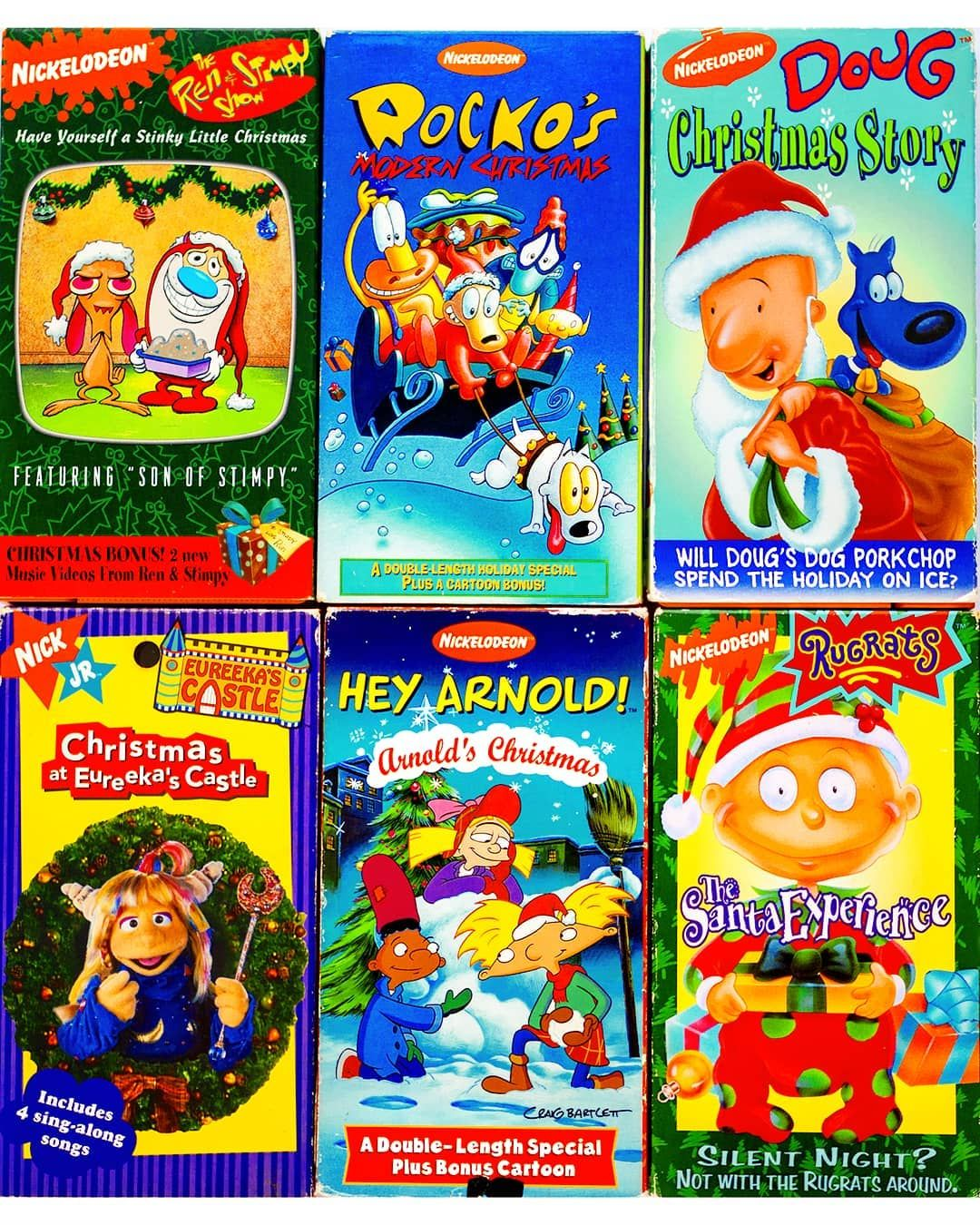 Nickelodeon Christmas Specials.Nickmas Vhs Tapes Nickelodeon Always Brought Some Of
