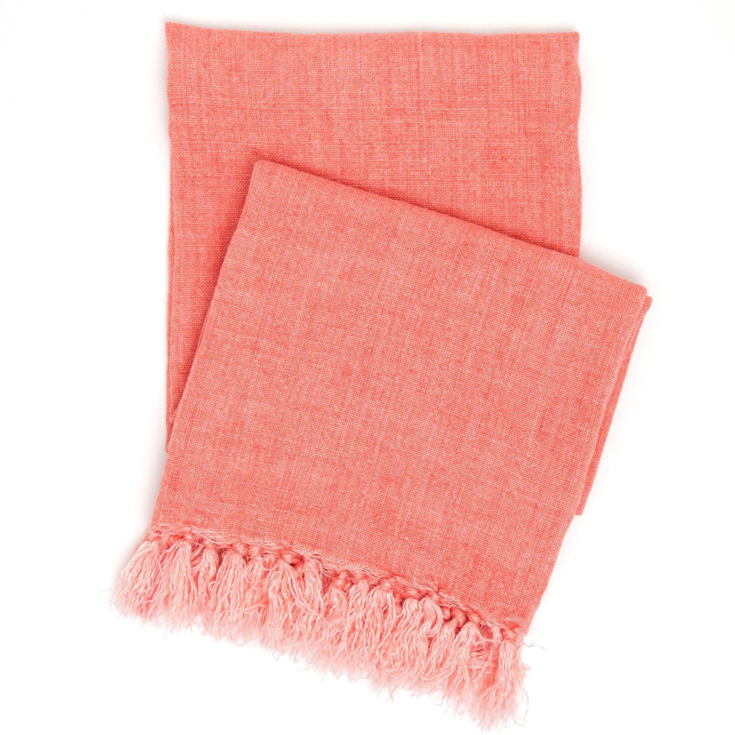 coral throw blanket - pine cone hill laundered linen coral throw blanket laylagrayce